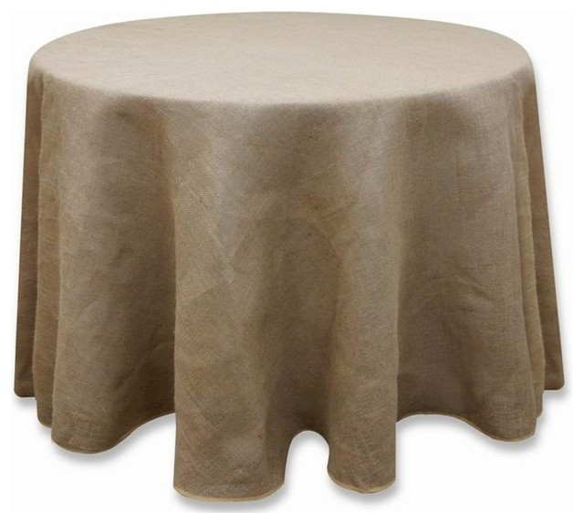 120 Quot Burlap Round Tablecloth Natural Brown Rustic