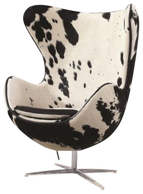Beau Lojo Chair White And Black Pony Hide