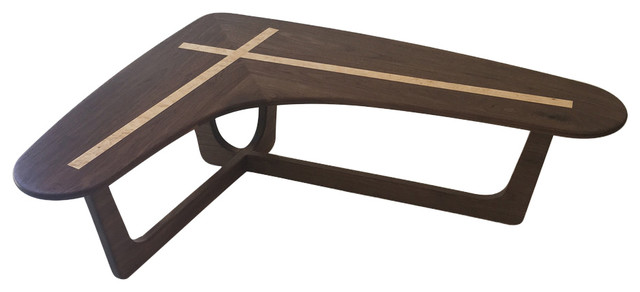 Prime Boomerang Cocktail Table In Solid Walnut With Maple Inlay Evergreenethics Interior Chair Design Evergreenethicsorg