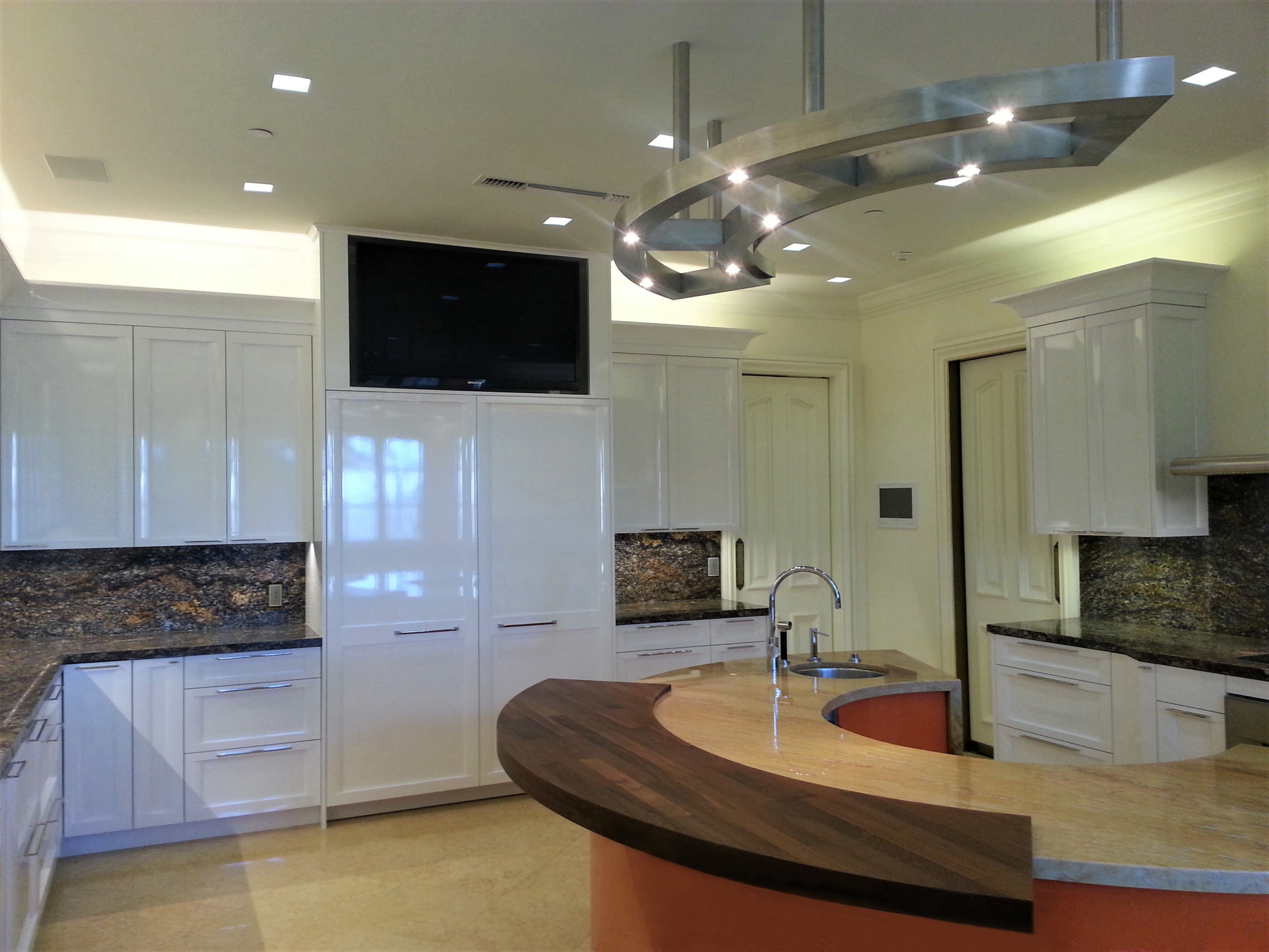 A Bold Contemporary Kitchen Designed For A Client in The Beverly Park Estates