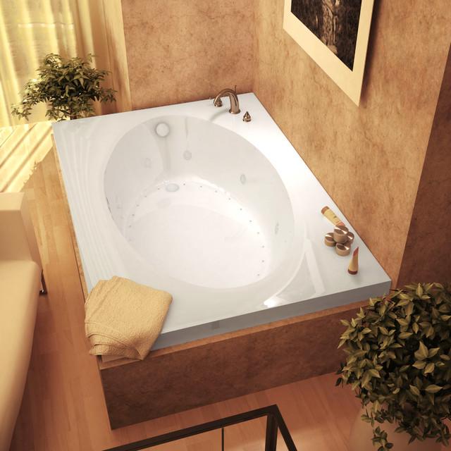 "Venzi Grand Tour Viola 42""x72"" Rectangular Air, Whirlpool Jetted Bathtub, Right."