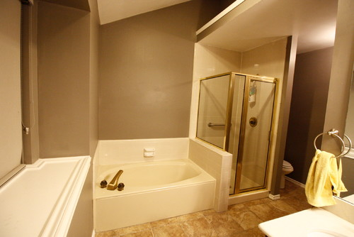 Seperate Shower Tub Become LARGE Walk In Conversion