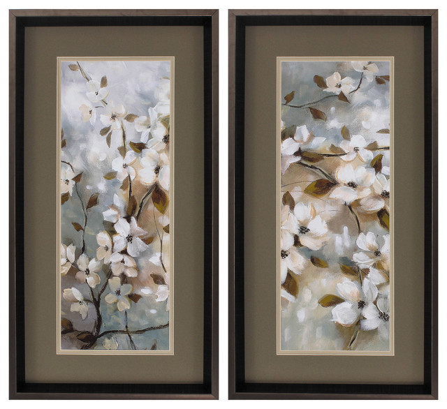 Blossoms Of Spring, Set Of 2.