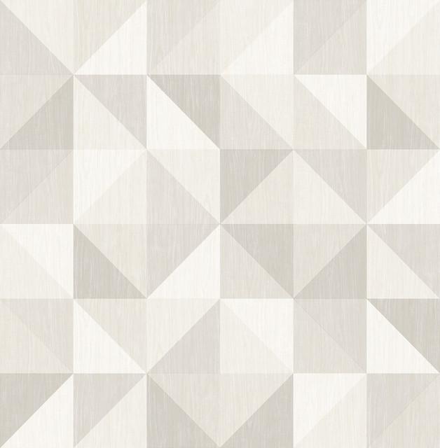 Puzzle Light Gray Geometric Wallpaper Contemporary  : contemporary wallpaper from www.houzz.com size 628 x 640 jpeg 61kB