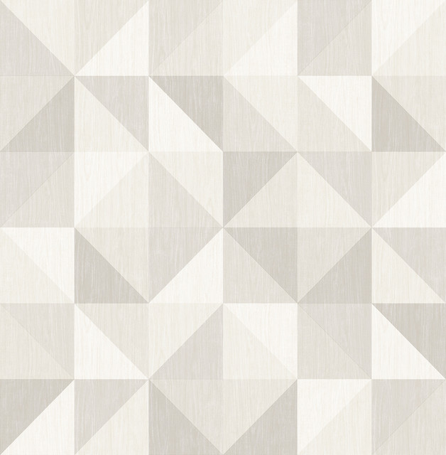 Puzzle Light Gray Geometric Wallpaper Scandinavian