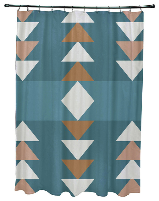 71x74 Sagebrush Geometric Print Shower Curtain Southwestern Shower Curtains By E By Design