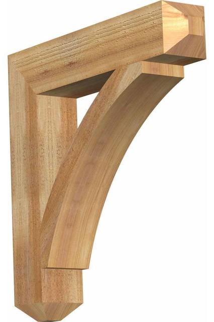 """Rustic Craftsman Shelf Bracket, 4"""" Rough Sawn Western Red Cedar, 22""""x22""""."""