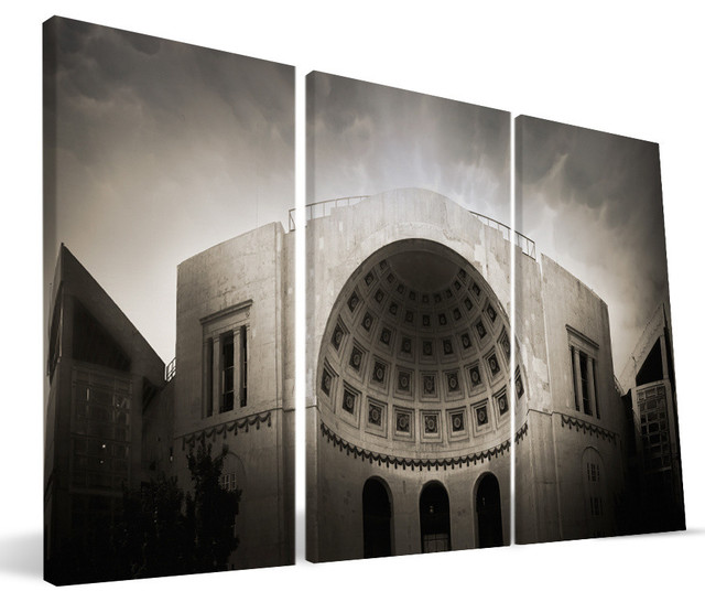 "Ohio State University Buckeyes Ohio Stadium Canvas Print, 24""x48""."
