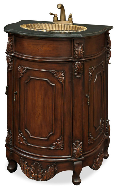 china furniture and arts vanity cabinet with brass sink