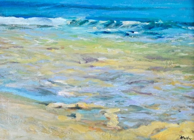 """morning Beach"" Oil Painting On Canvas By Marilyn Muller."