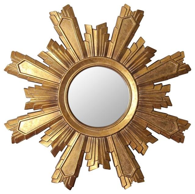 Mikah Gold Sunburst Wall Mirror.