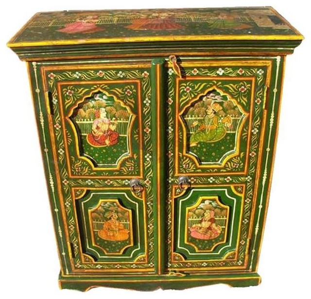 Hand Painted Green Royal Mughal
