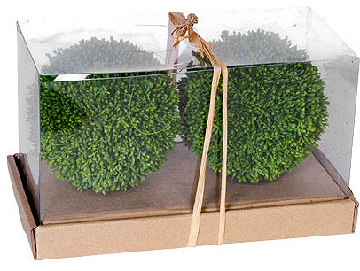 "6"" 2 Piece/Box Decorative Grass Ball, Box"