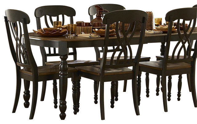 Homelegance Ohana 8 Piece Rectangular Dining Room Set In Black/ Cherry
