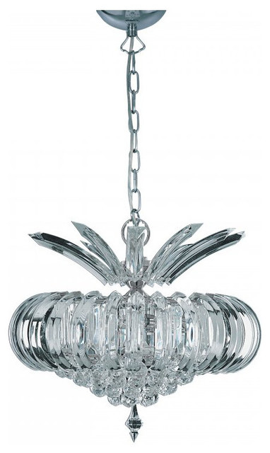 Mandello 5L Chrome Pendant - Contemporary - Pendant Lighting - by Julia Jones Ltd