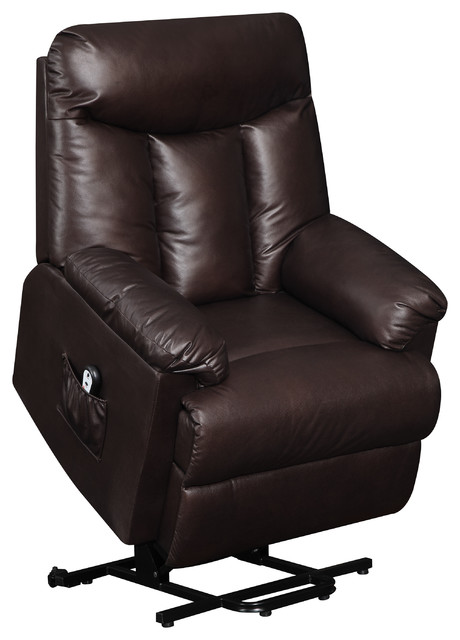 Prolounger Renu Leather Wall Hugger Recliner, Gunslinger Coffee, Renu Brown.