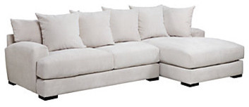 Stella Sectional With Chaise Contemporary Sectional Sofas by Z Gallerie
