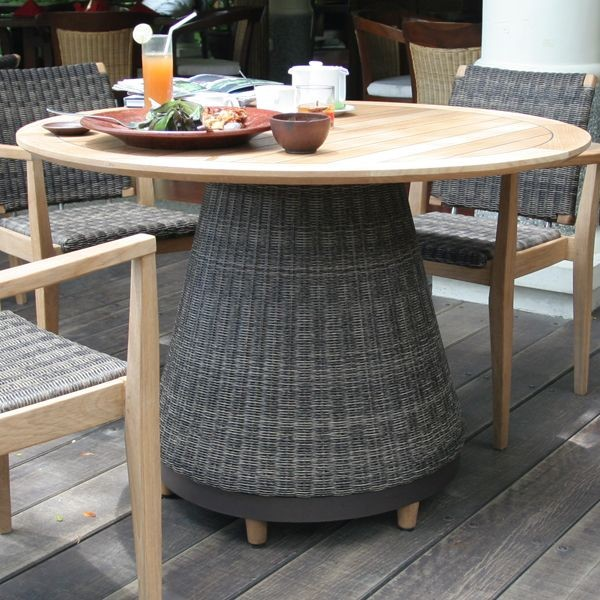 Marvelous Teak And Wicker Outdoor Dining Furniture Table Contemporary   Dining Patio  Furniture   Best Furniture Decor Part 20