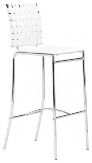 Terrific Criss Cross Bar Chairs White 2 Inzonedesignstudio Interior Chair Design Inzonedesignstudiocom