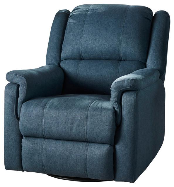 Fantastic Gdf Studio Jemma Tufted Fabric Swivel Gliding Recliner Chair Navy Blue Lamtechconsult Wood Chair Design Ideas Lamtechconsultcom