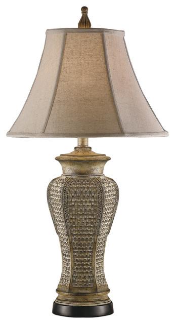Cypress Resin Table Lamp.