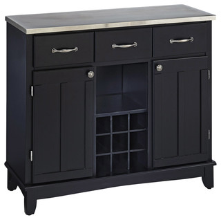 Buffet of Buffet With Stainless Top - Transitional - Buffets And Sideboards - by Home Styles ...