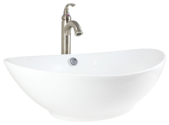 Krone Kvs 140 White Porcelain Vessel Sink