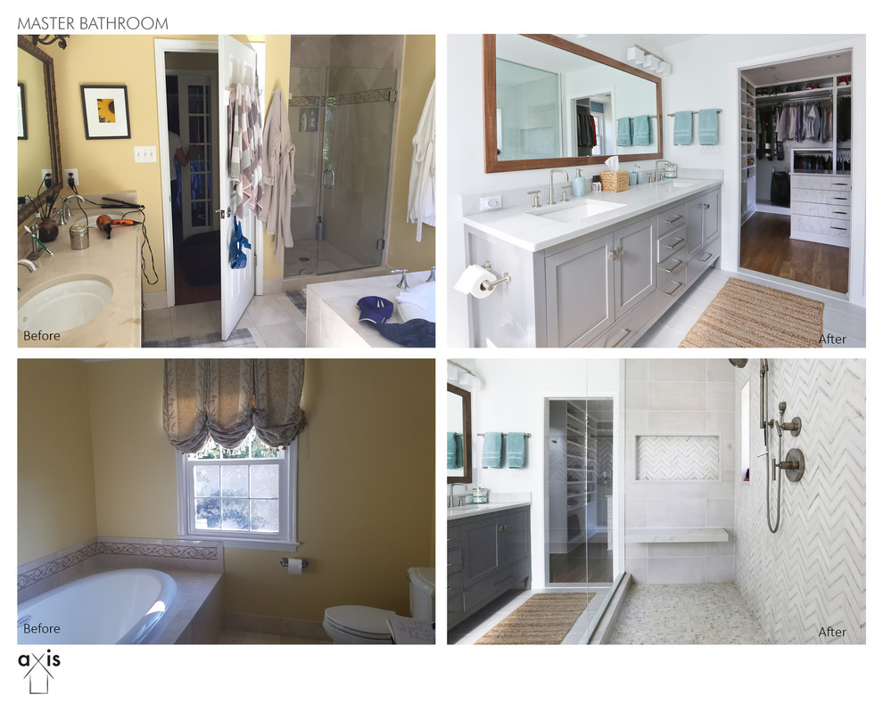 Potomac, MD Shabby-Chic Whole-House Remodel