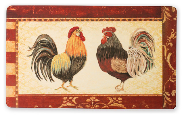 DII Kitchen Mat Roosters 18x30\