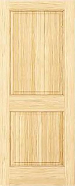 "Interior Door, Colonial 2-Panel, Square, 1.375""x18""x80""."