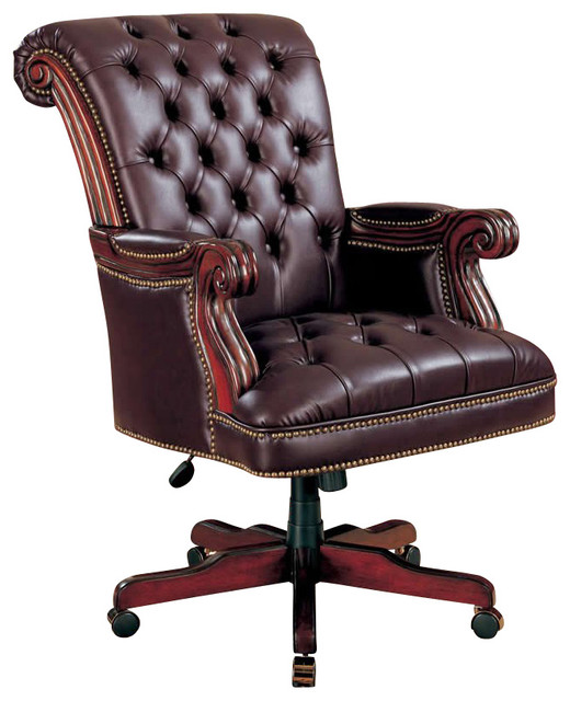 Coaster Coaster Office Chair In Dark Brown Finish 800142