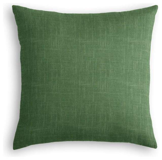 Shop Houzz Loom Decor Dark Green Linen Throw Pillow - Decorative Pillows