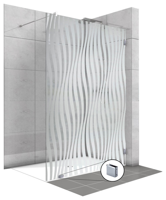Fixed Glass Shower Screens With Frosted, Shower Glass Panel Cost India