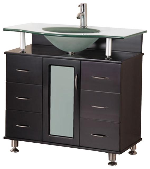 Huntington 36 Single Sink Vanity Set, Espresso.
