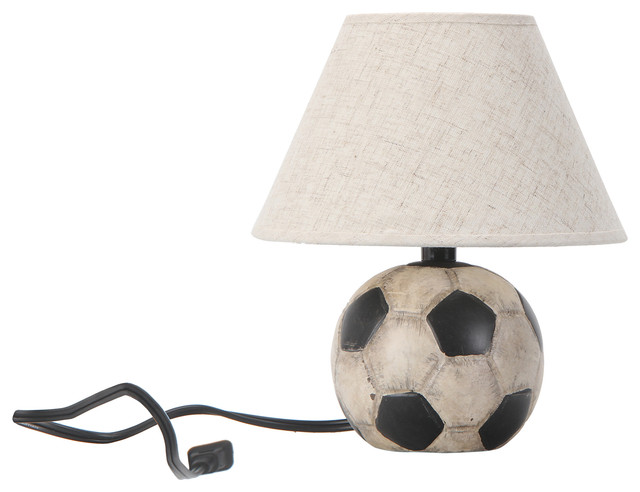 ball lamp. primitive soccer ball lamp with shade eclectic-kids-lamps