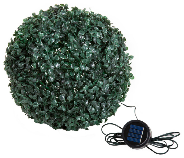 Solar Powered LED Artificial Topiary Ball by Pure Garden