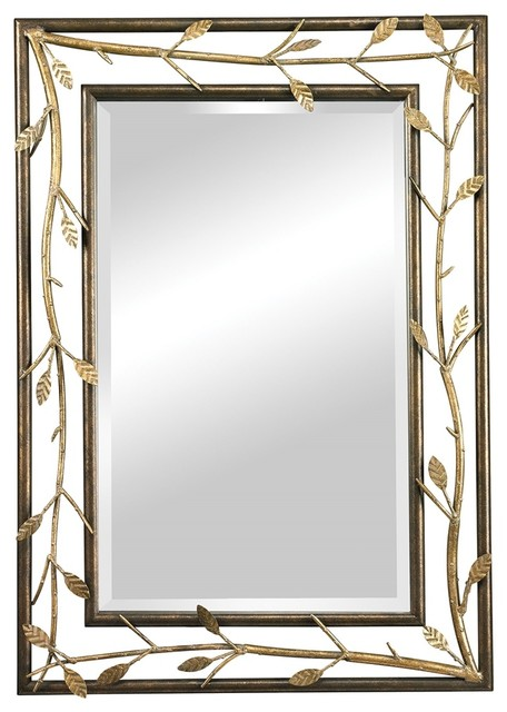 Rhyle Metal Frame Branch Framed Mirror Rustic Wall  : rustic wall mirrors from www.houzz.com size 456 x 640 jpeg 66kB