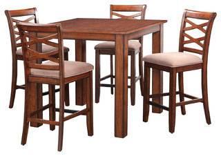 Redondo Square Counter Height Table and Four Chairs Set