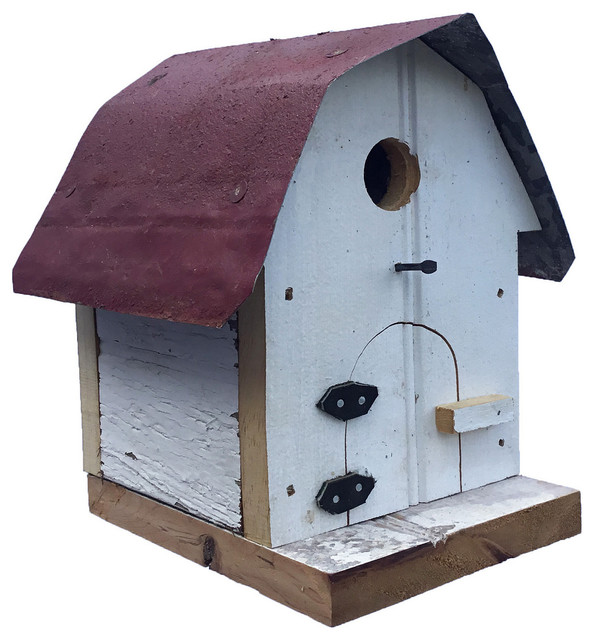 Pleasant Barn Wood Small Hip Roof Barn Bird House Interior Design Ideas Philsoteloinfo
