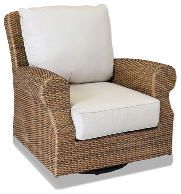santa cruz swivel rocking club chair with cushions chairs - Swivel Rocker Chair