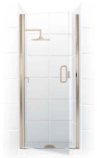 Paragon Semi Frameless Continuous Hinge Shower Door Oil