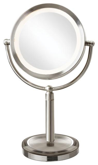 Dainolite Martin Tabletop Led Lighted Magnifier Mirror