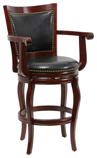 29 Quot Jones Memory Swivel Stool Cherry Traditional Bar