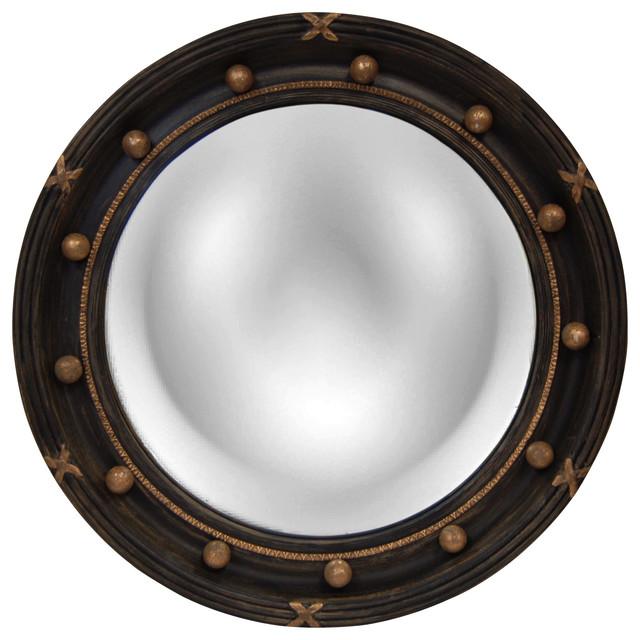 Regency Convex Mirror, Old Black Gold.