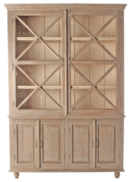 French Country Plantation 2 Door Hutch Cabinet- Large ...