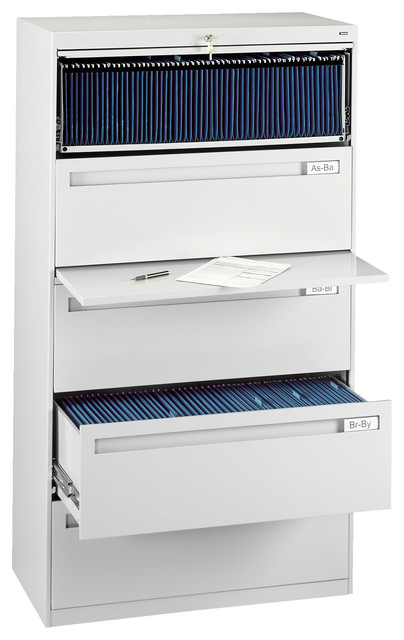 """42"""" 5-Drawer Lateral File Cabinet - Contemporary - Filing Cabinets - by Tennsco Corp"""