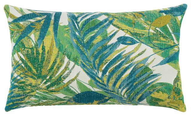 Elaine Smith Eden Botanical Lumbar Pillow Tropical Outdoor Cushions And  Pillows