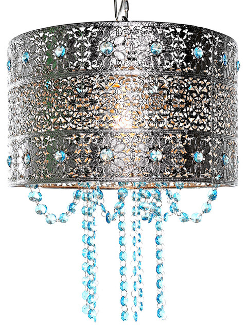 Tracy porter 14 5 mattei jeweled metal hanging lamp with cascading crystals mediterranean pendant