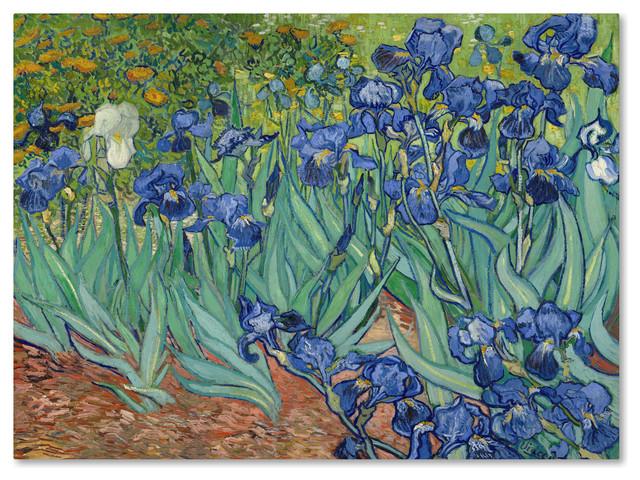 Vincent van Gogh Irises Floral Purple Fine Art Museum Gallery Framed photo paper poster