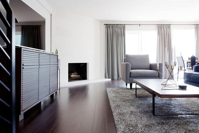 Modern Townhouse Modern Living Room Orange County